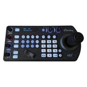 PTZ Keyboard controller w/NDI, VISCA, RS-232 & RS422, BIRDDOG Comms compatible