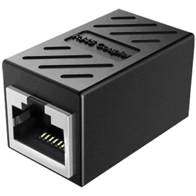 RJ45 Coupler for PTZ Keyboard RJ45 network control cable extension.