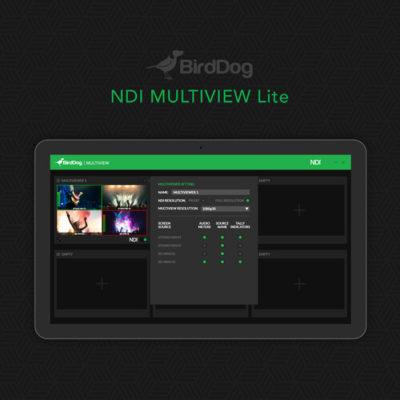Multiview Pro - NDI Multiviewer Pro. Create up to six 4x4 outputs