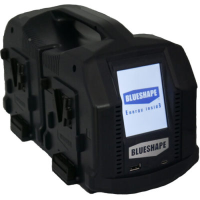 BLUESHAPE Portable 4-Channel V-Mount Battery Charger