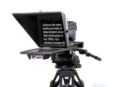 """Master Series 17"""" SDI Prompter with Large Wide Angle Hood for Large Studio Lens"""