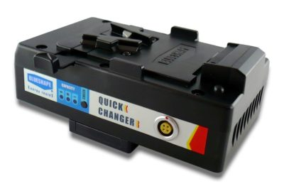 Hot swap quickchanger of batteries and UPS safety system with 21W of energy reserve, goldmount fitting